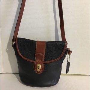 Coach Black Vintage leather crossbody handbag